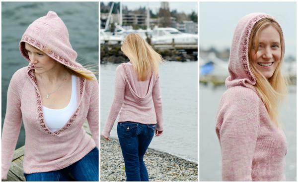 Samantha Roshak wearing her Aventurine hoodie