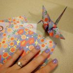 When your polish matches your paper. #origami #origamicrane #1000papercranes
