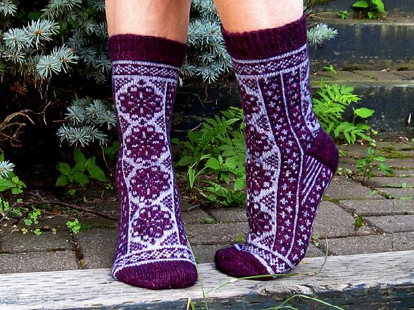 Fireweed socks