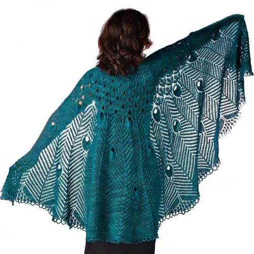 Pretty As A Peacock shawl