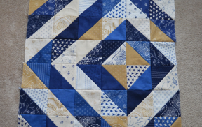 quilt top with half-square triangles