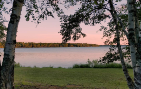 Trout Lake, MI at sunset