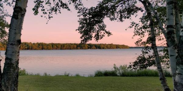 Trout Lake, MI at sunset