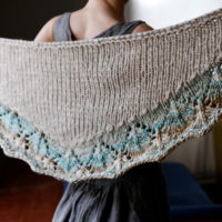 Clouds in a Blue Sky shawl