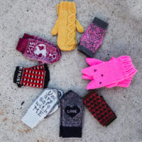 8 mittens from the Join Hands collection