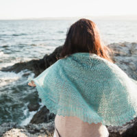 Seaspray lace shawl
