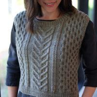 Woman modeling Stillwater vest